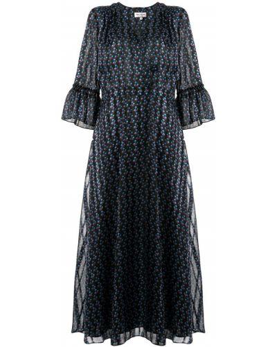 Платье миди с цветочным принтом с V-образным вырезом Paul & Joe