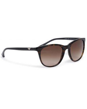 Okulary przeciwsłoneczne dla wzroku czarne Emporio Armani