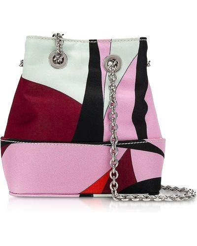 Różowa torebka z printem Emilio Pucci