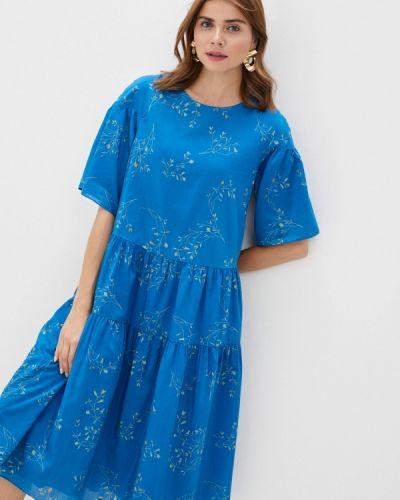 Синее прямое платье Akhmadullina Dreams