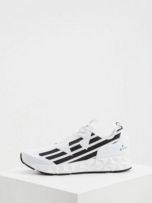 Белые кроссовки осенние Ea7