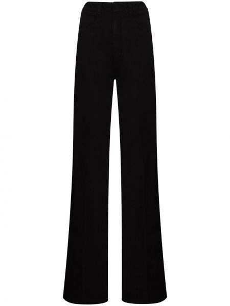 Bawełna prosto z wysokim stanem bawełna jeansy na wysokości Lemaire