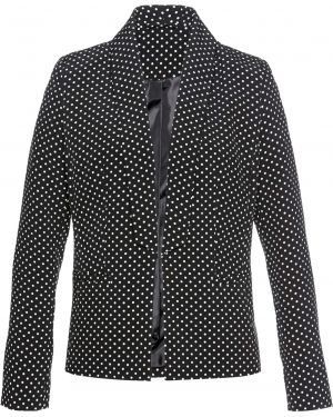 Пиджак черный в горошек Bonprix