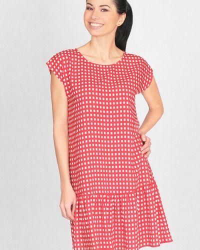 Платье весеннее красный Lila