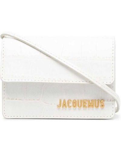 Золотистая белая кожаная сумка через плечо Jacquemus