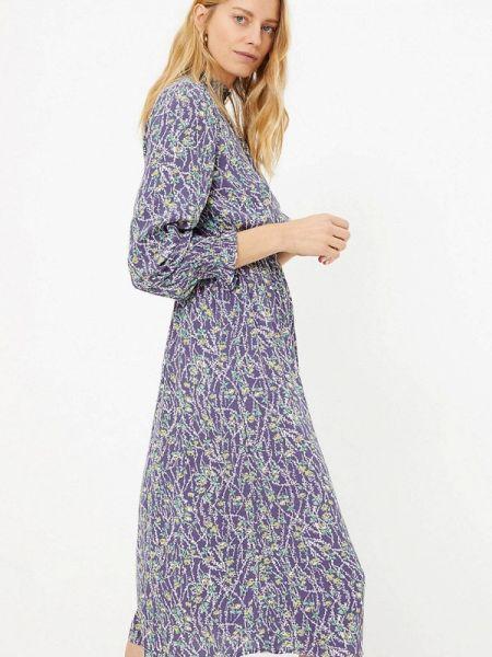 Повседневное платье весеннее фиолетовый Marks & Spencer