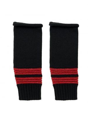 Czarne rękawiczki bez palców bawełniane Andrea Bogosian