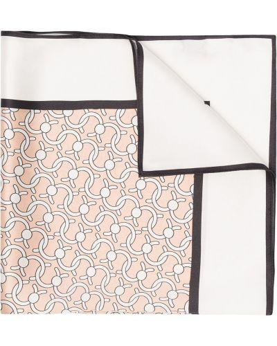 Różowy szalik z jedwabiu z printem Cafuné