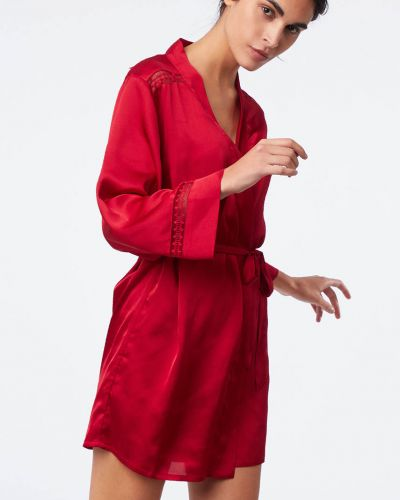 Красный халат однотонный Etam