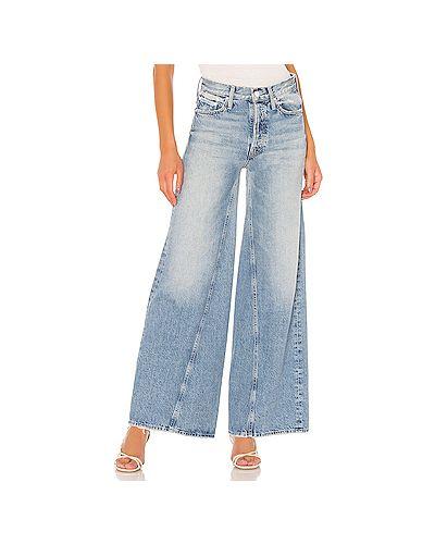 Широкие джинсы со стразами хрустальный Mother