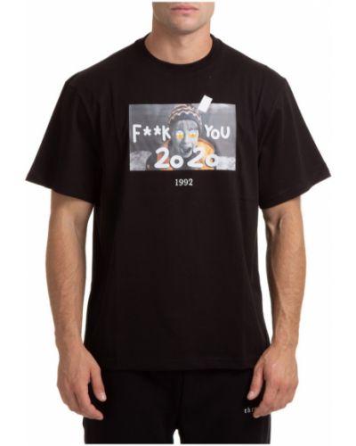 Czarna t-shirt krótki rękaw Throwback