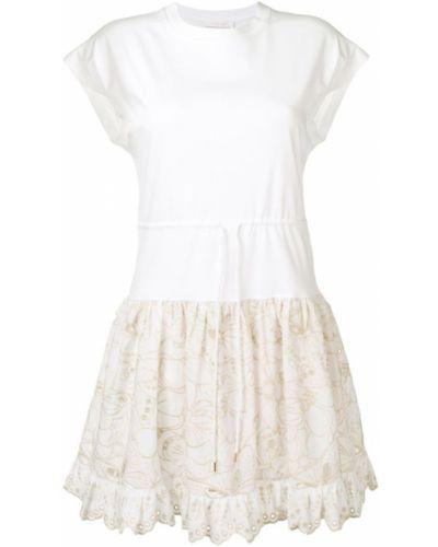 Платье мини с вышивкой футболка See By Chloé