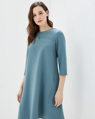 Платье осеннее голубой Argent