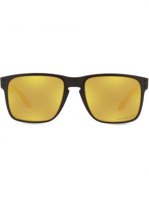 Złote okulary - czarne Oakley