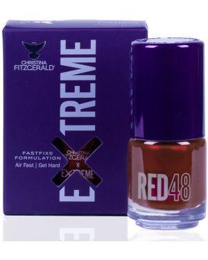 Кожаный красный лак для ногтей свободного кроя Christina Fitzgerald