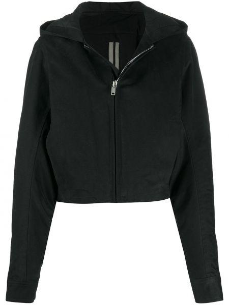 Акриловая классическая черная куртка с капюшоном оверсайз Rick Owens Drkshdw