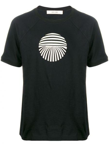 Czarny t-shirt bawełniany z printem Damir Doma