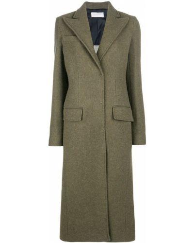 Оливковое шерстяное пальто Esteban Cortazar