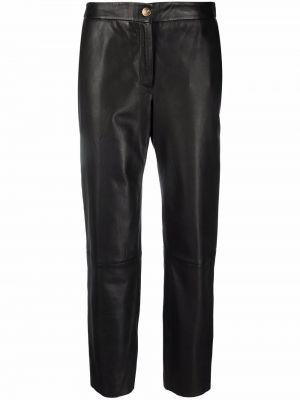Кожаные брюки - черные Pt01