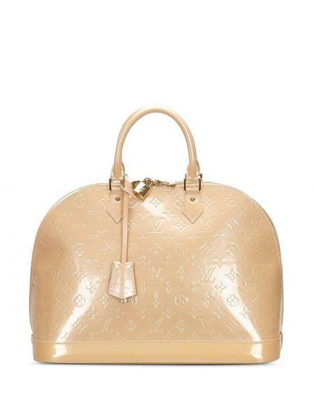 Кожаная сумка бежевый с ручками Louis Vuitton
