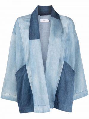 Прямая ватная синяя джинсовая куртка Closed