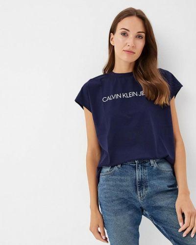Синяя футболка Calvin Klein Jeans