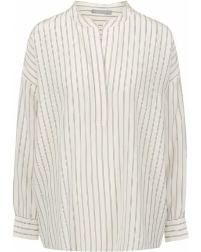 Блузка в полоску шелковая Vince.