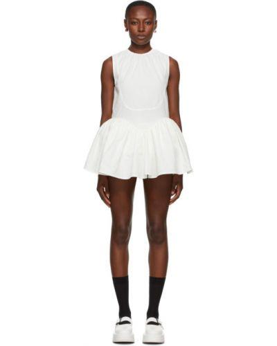 Biała sukienka mini bez rękawów bawełniana Shushu/tong