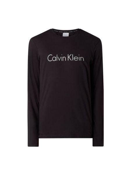 Czarna piżama bawełniana z długimi rękawami Calvin Klein Underwear