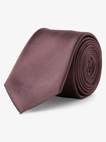 Różowy krawat elegancki z jedwabiu Finshley & Harding