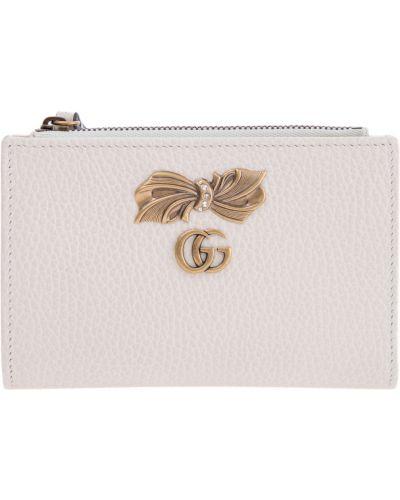 Кожаный кошелек с бантом на молнии Gucci