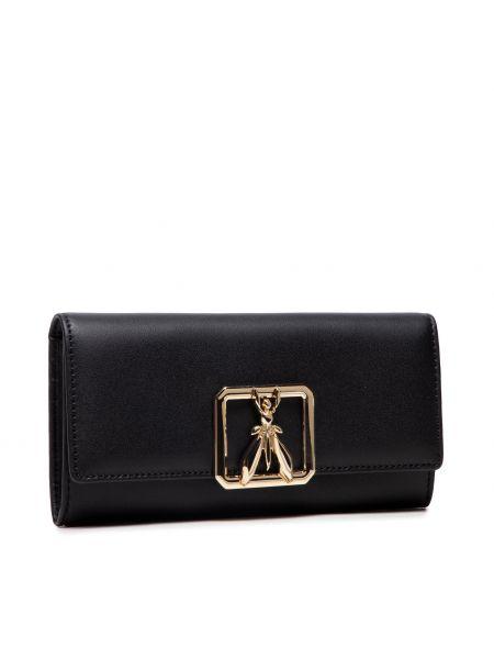 Złoty portfel - czarny Patrizia Pepe