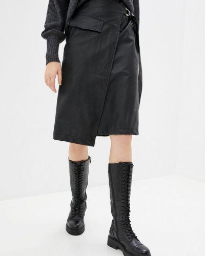 Черная кожаная юбка B.style