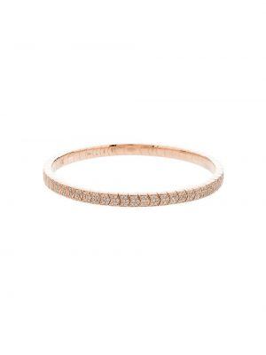 Розовый золотой браслет с бриллиантом без застежки Jacquie Aiche
