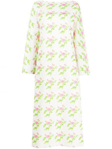 Платье макси розовое с цветочным принтом Bernadette