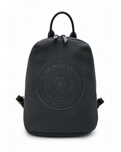 Кожаный рюкзак - черный U.s. Polo Assn.