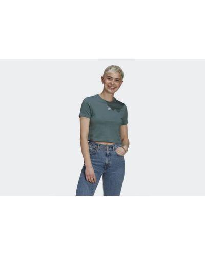 T-shirt bawełniana - zielona Adidas