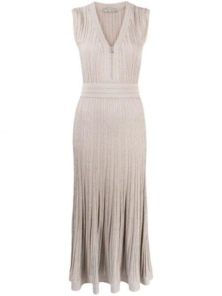 Прямое серое платье макси без рукавов D.exterior