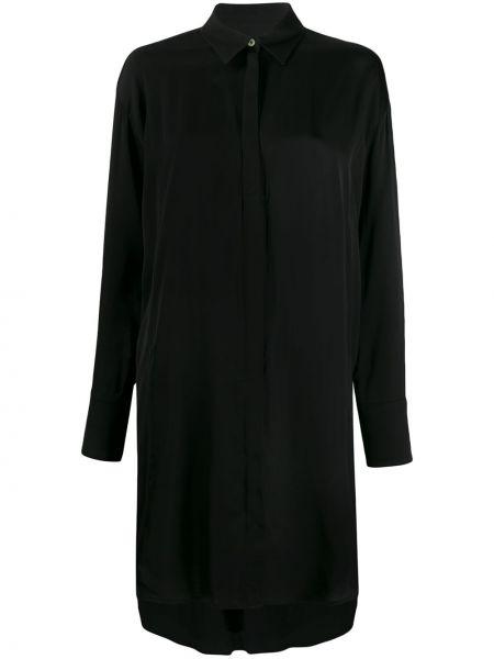Платье макси с длинными рукавами - черное J.lindeberg