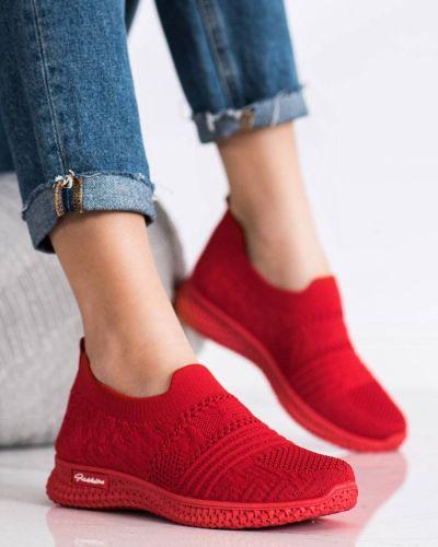 Czerwone sneakersy na co dzień Mckeylor
