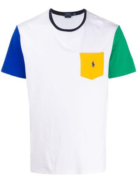 Koszula krótkie z krótkim rękawem z haftem z kieszeniami Ralph Lauren