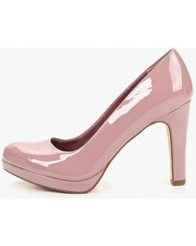 Туфли на каблуке кожаные закрытые Tamaris