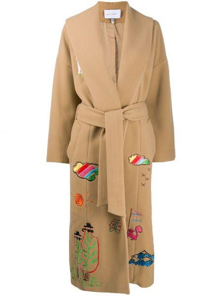 Длинное пальто с поясом Mira Mikati