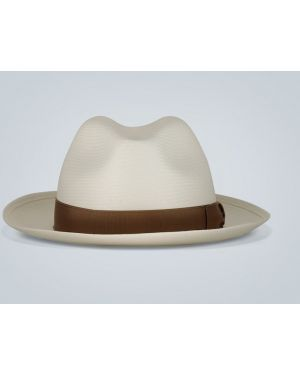 Шляпа соломенная с широкими полями с логотипом Borsalino