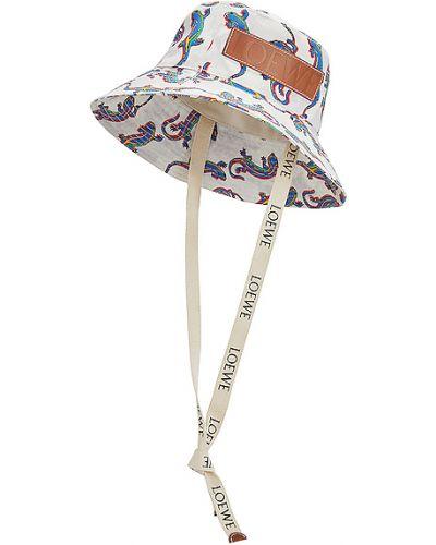 Biały kapelusz bawełniany Loewe
