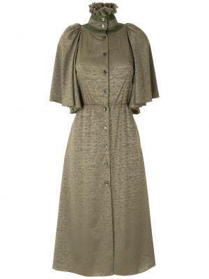 Платье с карманами - зеленое À La Garçonne