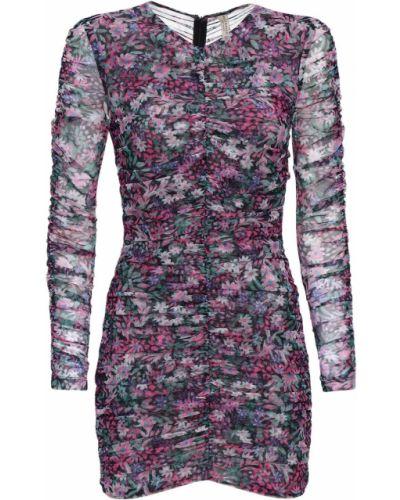Sukienka mini z falbanami w kwiaty Bec & Bridge