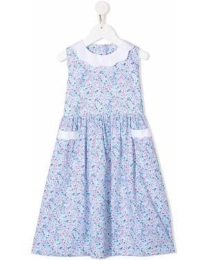 Sukienka midi w kwiaty z guzikami Siola