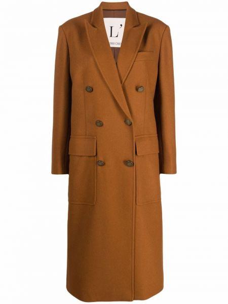 Шерстяное пальто - коричневое Lautre Chose