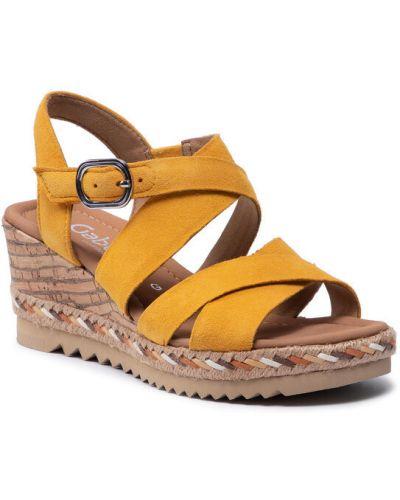 Sandały espadryle - żółte Gabor
